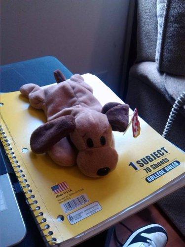Ty Stuffed Animal Brown Puppy