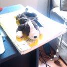 Ty Stuffed Animal Dark Brown & White Puppy