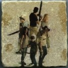 Walking Dead Cast Season 1 Zombies Tiles Art Coasters Paperweights Table Accent