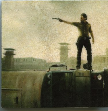 Rick Grimes Walking Dead Andrew Lincoln Zombies Art Tiles Coasters Wall Display