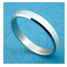 Stainless Steel Frosted Ring Size 11.5