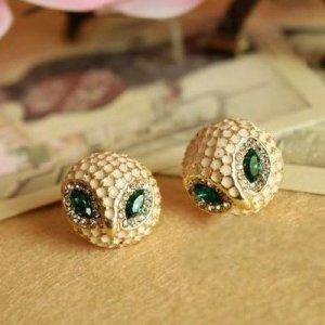Owl Rhinestone Earrings