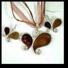 Butterfly Enamel Necklace and Earrings Set