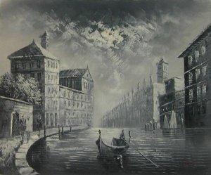 Boats in Venice River