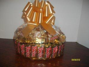 Handmade Candy Bar Cake Twix Round Free Shipping