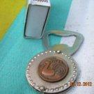 Rare Soviet USSR  keychain / bottle opener RIGA about 1980
