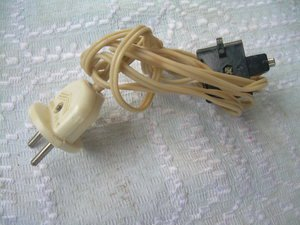 Vintage Soviet Russian Old Radio AC Power Supply Proprietary Cable Cord