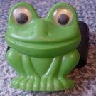 Vintage Soviet Russian USSR  Plastic Toy Frog With Moving Eyes  about 1972
