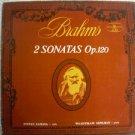 J. Brahms 2 Sonantas Muza  LP Very Rare