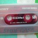 Vintage Sony CDit! 60 Slide Case  Cassette  2x30 min