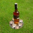 Vintage Rare 20 Century Soviet Armenia Melchior Brandy Vodka 6 Shots On Plate
