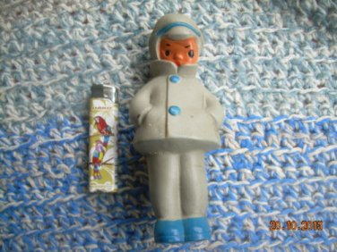 Antique Rare Soviet Russian Ussr Sound Rubber Doll Boy About 1960