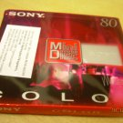 Sony Red Color Sealed MiniDisc 80 Minutes NOS