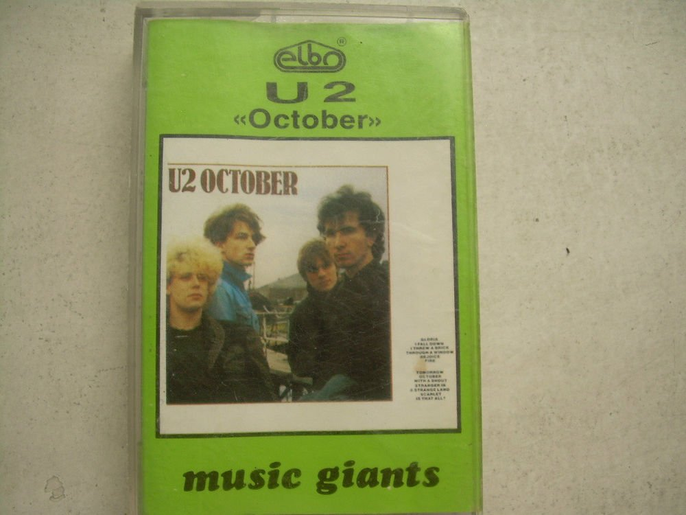U2 October Cassette Polish Release Made In Poland