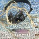 Vintage Soviet Russian Ussr Military Radio Headphones TON-2M 1600 OHMS Bakelite