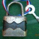 Rare Vintage Soviet Russian Ussr Heavy lock with key About 1970
