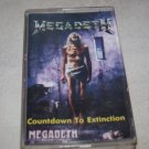 MEGADETH COUNTDOWN TO EXTINCTION AUDIO CASSETTE MADE IN POLAND