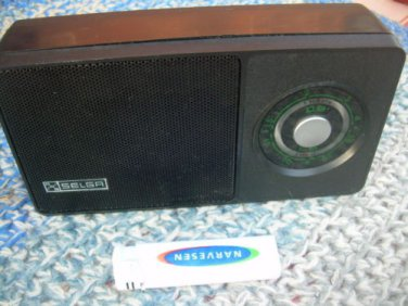 Vintage Soviet Russian  USSR Portable AM LW Transistor Radio SELGA - 405 1978