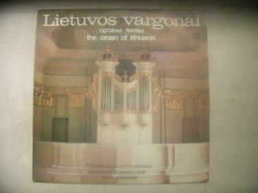 VINTAGE THE ORGAN OF LITHUANIA  VILNIUS UNIVERSITY LP 1982