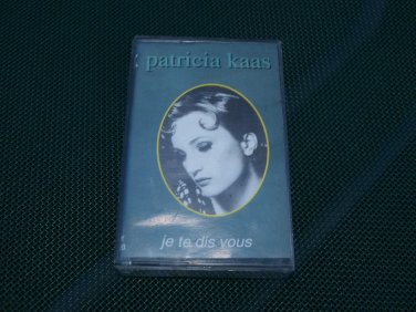 PATRICIA KASS JE TE DIS VOUS AUDIO CASSETTE MADE IN POLAND