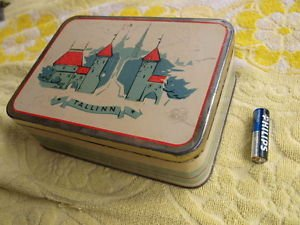 SUPER RARE ANTIQUE USSR SOVIET ESTONIAN NORMA FACTORY TIN BOX 1962