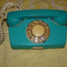 ANTIQUE RARE  SOVIET BULGARIA  ROTARY DIAL PHONE TA 3100 TEAL COLOR MADE IN 1973