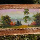 RUSSIAN USSR ANTIQUE HAND PAINTED CARVED WOOD JEWELRY TRINKET BOX  ABOUT 1940