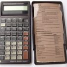 VINTAGE TEXAS INSTRUMENTS BA-II CALCULATOR W/COVER And REFERENCE. Working!