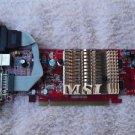 MSI ATI Radeon X300 128MB DDR2 VGA DVI PCI-E x16 Video Card RX300HM-TD128E