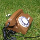 VINTAGE SOVIET USSR RUSSIAN TA-72 ROTARY DIAL PHONE BROWN  ABOUT 1970