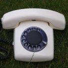 RARE VINTAGE SOVIET RUSSIAN USSR ROTARY DIAL PHONE SPEKTR 3  WHITE COLOR