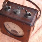 Rare Antique Industrial AEG Electrical  AMP Meter Ampermeter Made In Germany