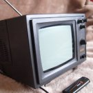 Vintage Soviet USSR Black & White CRT Portable TV Set Silelis 406 Demo Exposure