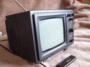 Vintage Soviet USSR Black & White CRT Portable TV Set Silelis 406 Demo Exposure