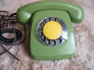 VINTAGE LATVIAN ROTARY DIAL PHONE VEF TAp-611 GREEN COLOR