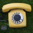 Vintage Soviet Russian USSR Rotary Dial Desk Phone Spektr 3 Yellow Color