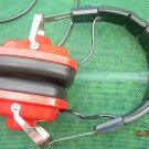 Vintage Soviet Russian Ussr HiFi Stereo Stereophonic Headphones TDS-3 Red