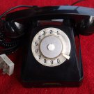 Antique  Soviet Made In USSR Rotary Dial Phone VEF Black Color From 1968