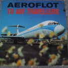 Rare Vintage Soviet Russian USSR AEROFLOT To Air Travellers 7' Flexi EP LP IL-62