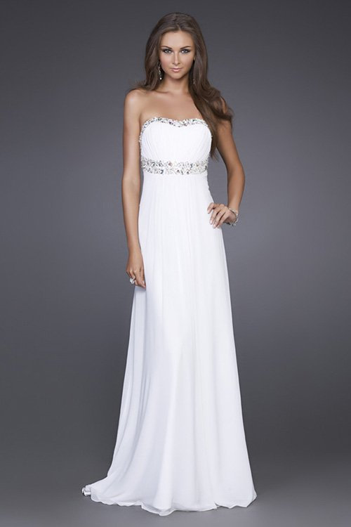 Strapless Long Evening Dresses Prom Formal Gowns LF001