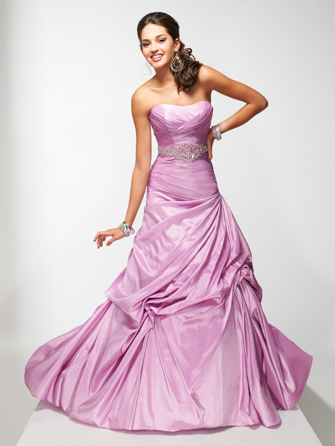 Ball Gown Strapless Long Evening Dresses Prom Formal Gowns MS044