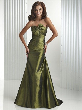 Trumpet/Mermaid Long Evening Dresses Prom Gowns MS076