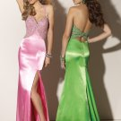 Halter Light Pink Long  Evening Dresses Prom Formal Party Gowns MLP003