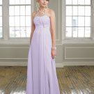 Simple A-line Strapless Purple Evening Dresses Bridesmaids Dresses Prom Formal Party Gowns MLB001
