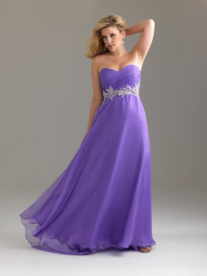 Plus Size Sweetheart Long Purple Evening Dresses Bridal Prom Formal Party Gowns NM002