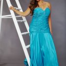 Plus Size Sheath/Column Sweetheart Long Blue Evening Dresses Prom Formal Party Gowns SC005