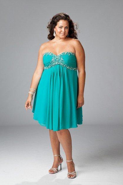 Plus Size Elegant Sweetheart Short Evening Dresses Bridal Prom Party Gowns SC010