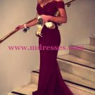 Mermaid Off-the-Shoulder Long Red Lace Evening Prom Dresses Party Dress 02