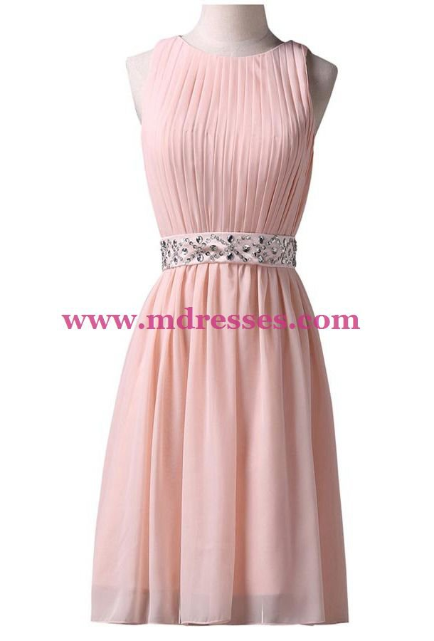 Short Pink Beaded Wedding Party Bridesmaid Prom Evening Party Formal Dresses 21