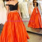 Two Pieces Off-the-Shoulder Wedding Party Prom Evening Party Formal Dresses 28
